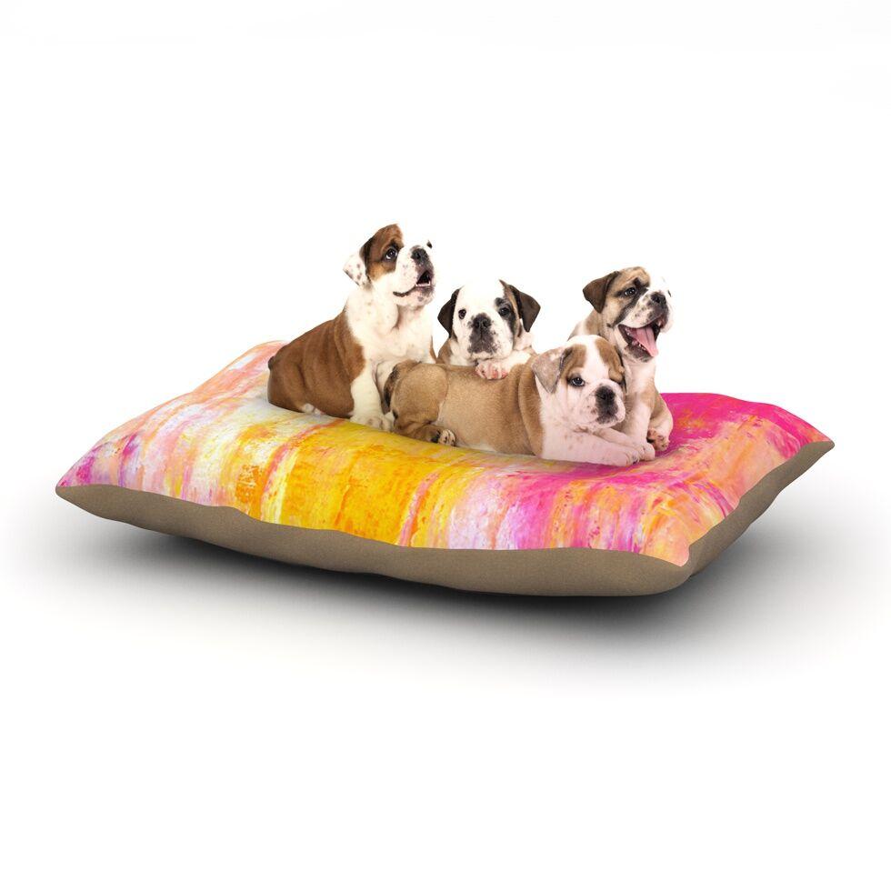 CarolLynn Tice 'Growing Taller' Dog Pillow with Fleece Cozy Top Size: Small (40