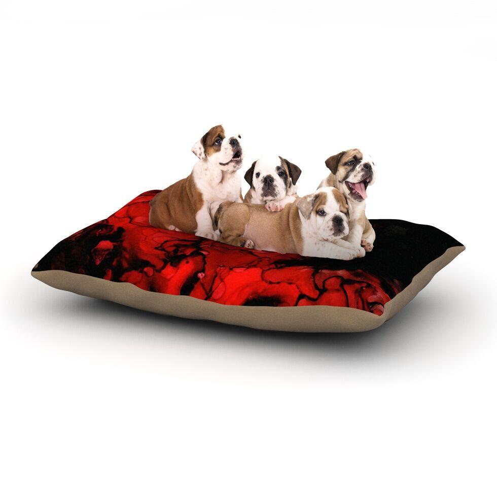 Claire Day 'Vesuvius' Dark Dog Pillow with Fleece Cozy Top Size: Small (40