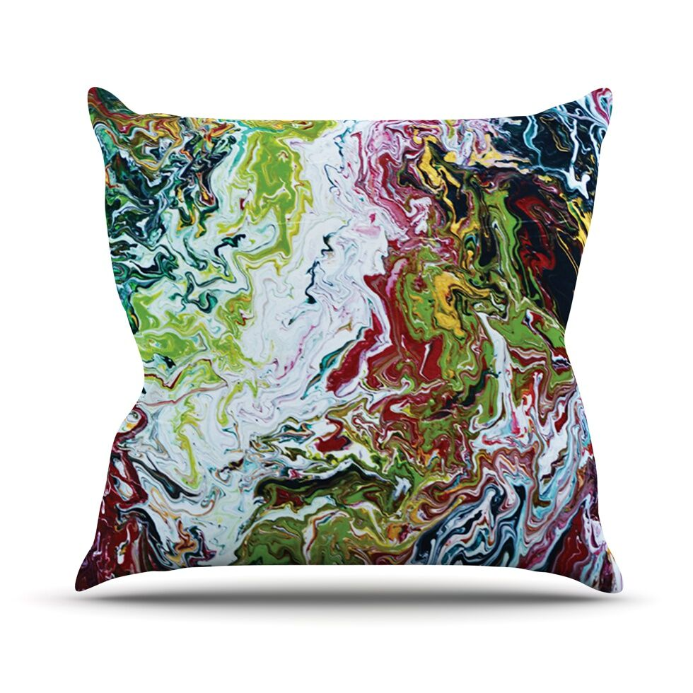 Chaos by Claire Day Throw Pillow Size: 26'' H x 26'' W x 1