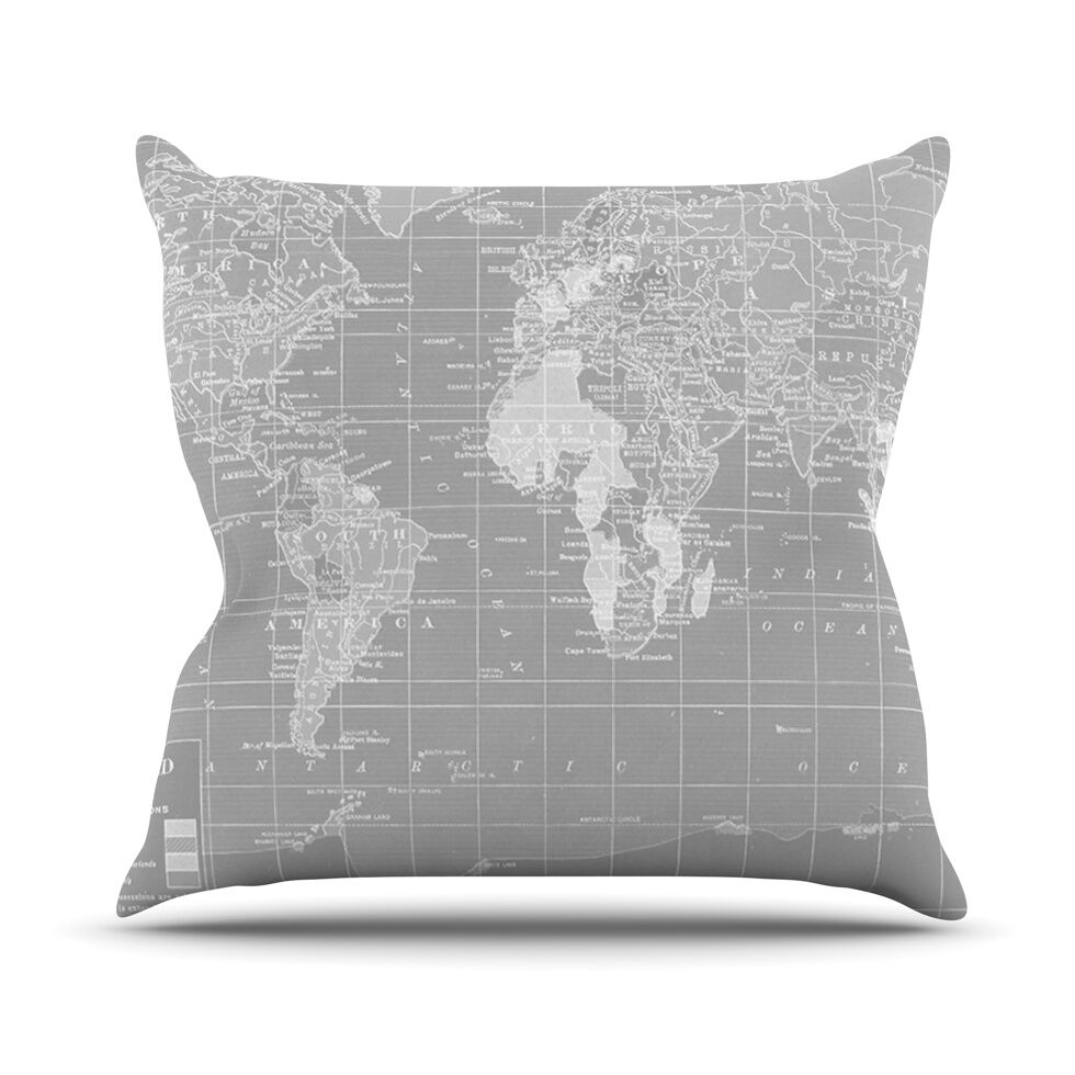 The Olde World by Catherine Holcombe Throw Pillow Size: 26'' H x 26'' W x 1