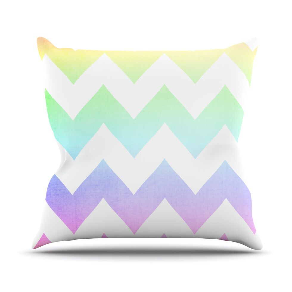 Water Color by Catherine McDonald Chevron Throw Pillow Size: 26'' H x 26'' W x 1