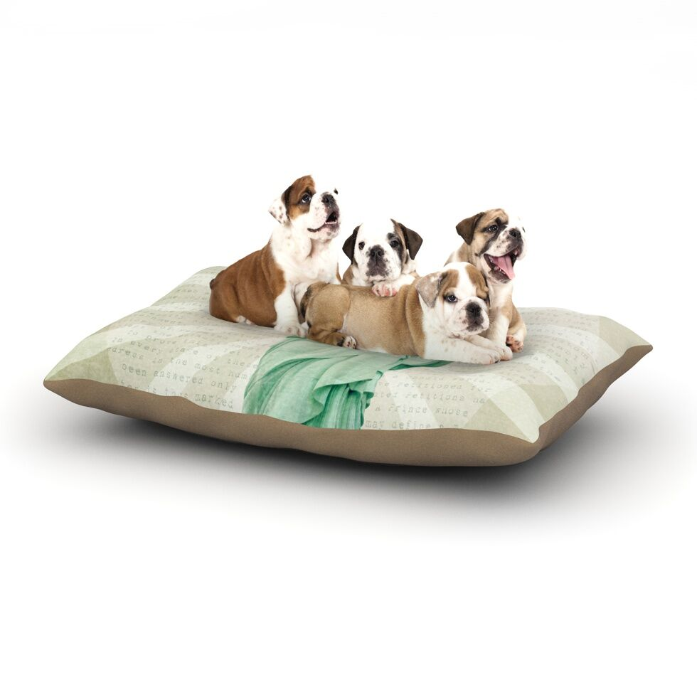 Catherine McDonald 'The Lady' Statue of Liberty Dog Pillow with Fleece Cozy Top Size: Small (40