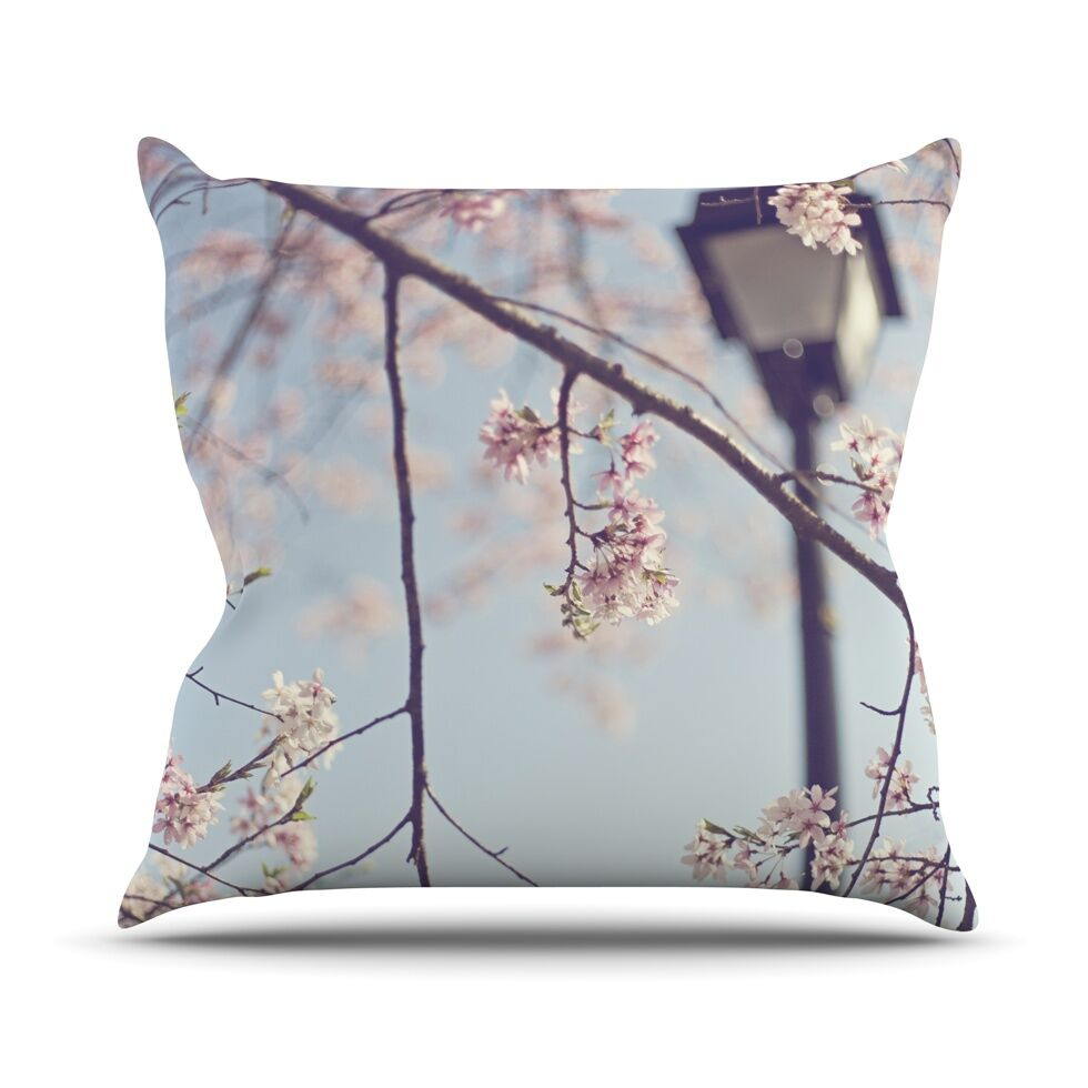 Walk with Me by Catherine McDonald Cherry Blossom Throw Pillow Size: 26'' H x 26'' W x 1