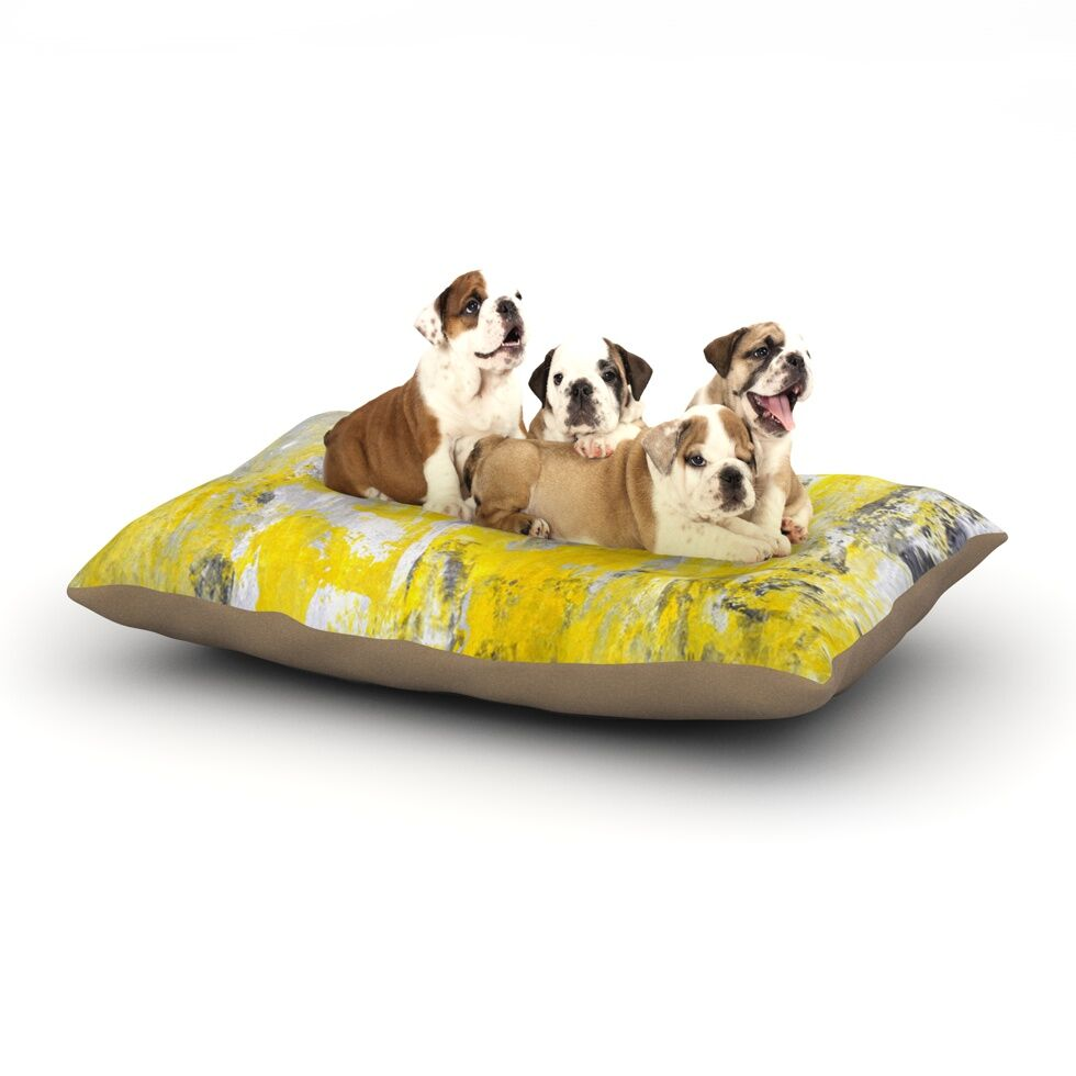 CarolLynn Tice 'Picking Around' Dog Pillow with Fleece Cozy Top Size: Small (40