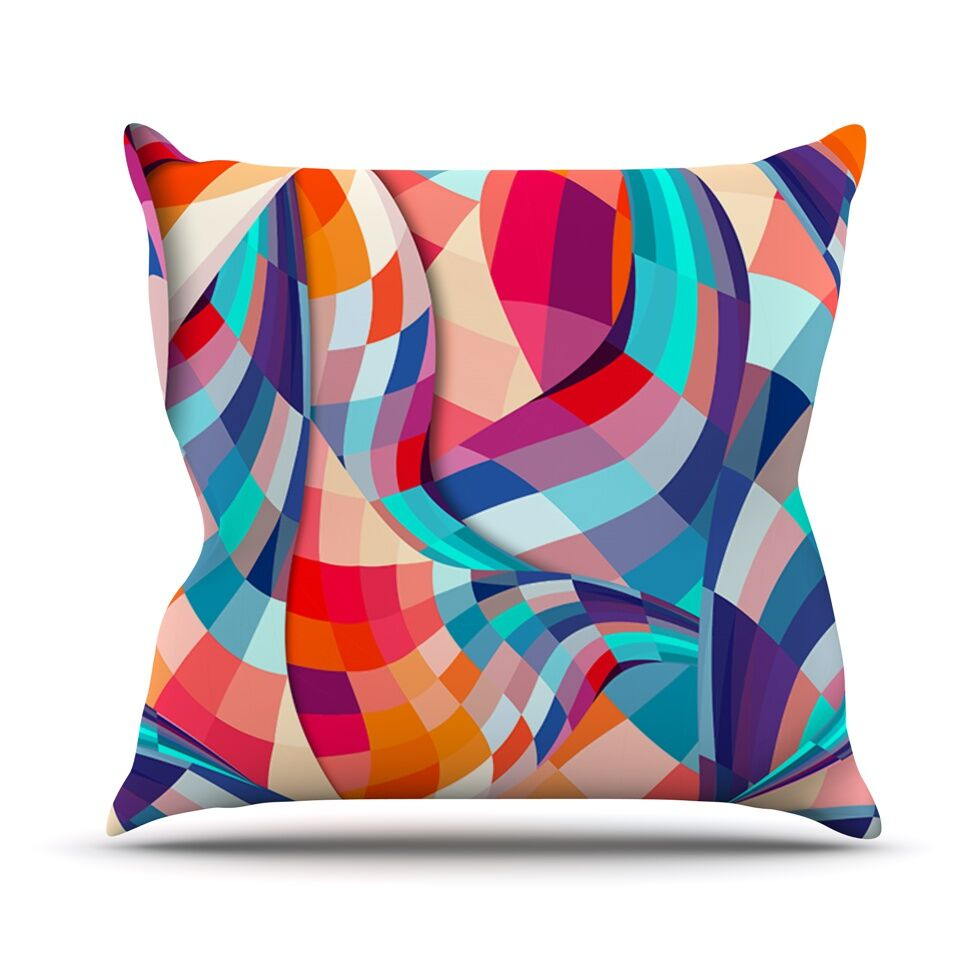 Versicolor by Danny Ivan Throw Pillow Size: 26'' H x 26'' W x 1