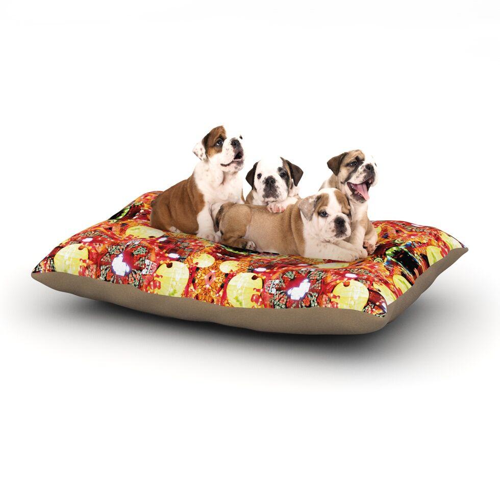 Danii Pollehn 'China' Dog Pillow with Fleece Cozy Top Size: Small (40