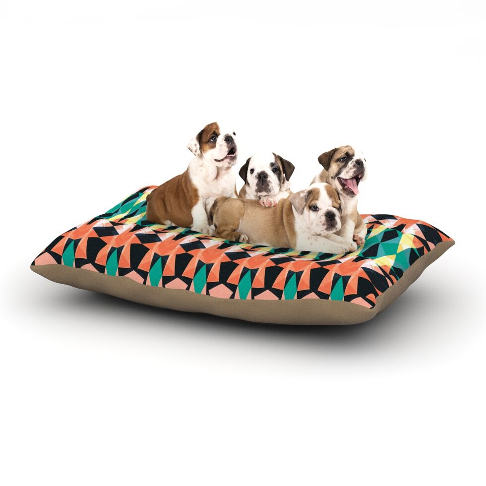 Akwaflorell 'Triangle Visions' Dog Pillow with Fleece Cozy Top Size: Small (40