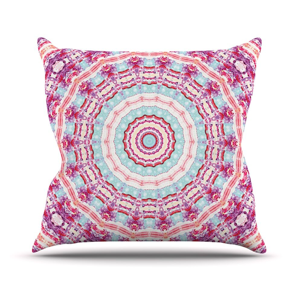 Happy by Iris Lehnhardt Throw Pillow Size: 26