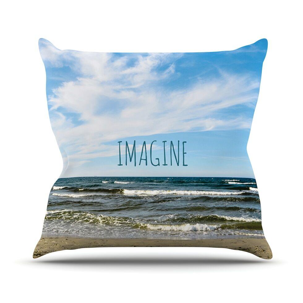 Imagine by Iris Lehnhardt Beach Sky Throw Pillow Size: 26