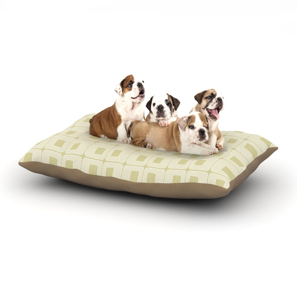 Fotios Pavlopoulos 'Squares in Square' Shapes Dog Pillow with Fleece Cozy Top Size: Small (40