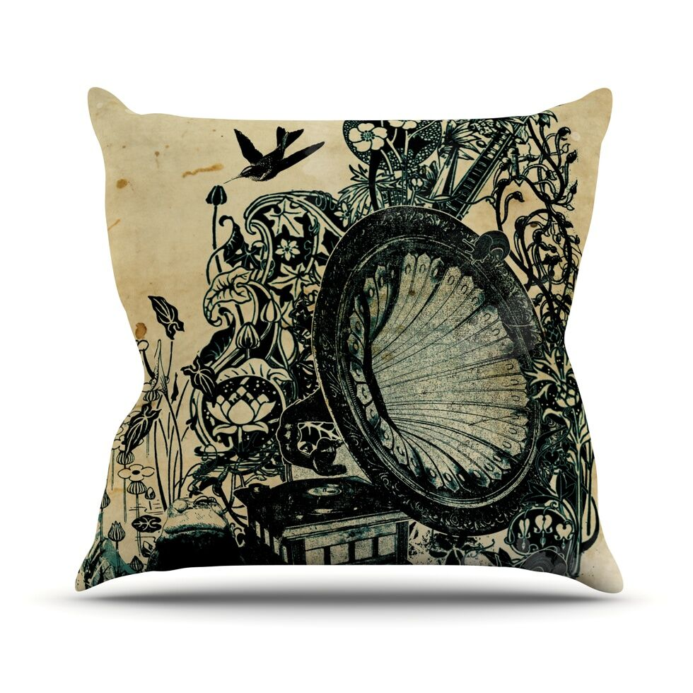 Sound of Nature Throw Pillow Size: 26'' H x 26'' W x 1