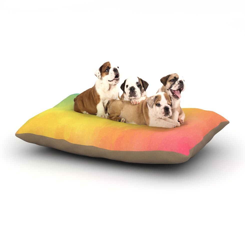 Fotios Pavlopoulos 'Watercolor Layers' Dog Pillow with Fleece Cozy Top Size: Small (40