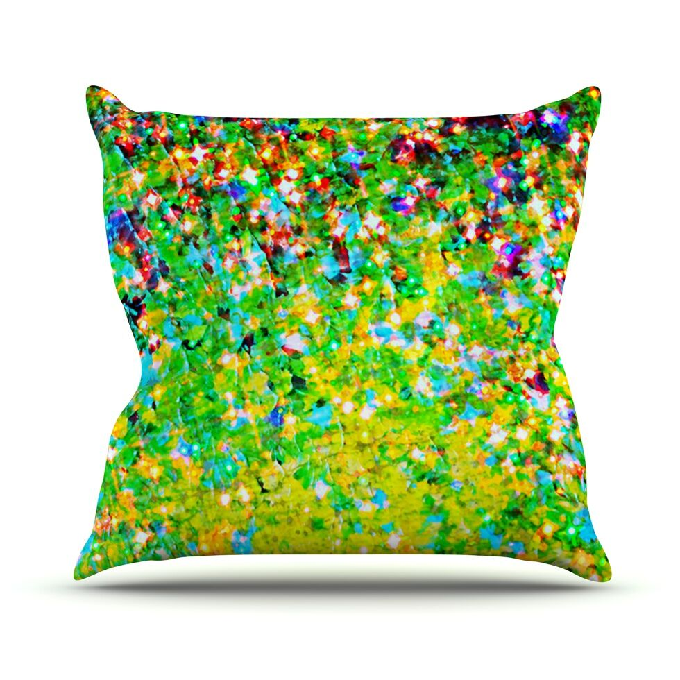 Holiday Cheer by Ebi Emporium Throw Pillow Size: 26
