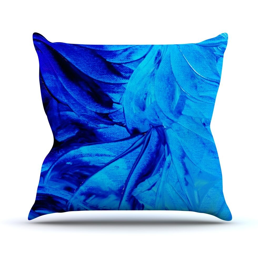 Petal Pinwheels by Ebi Emporium Throw Pillow Size: 16