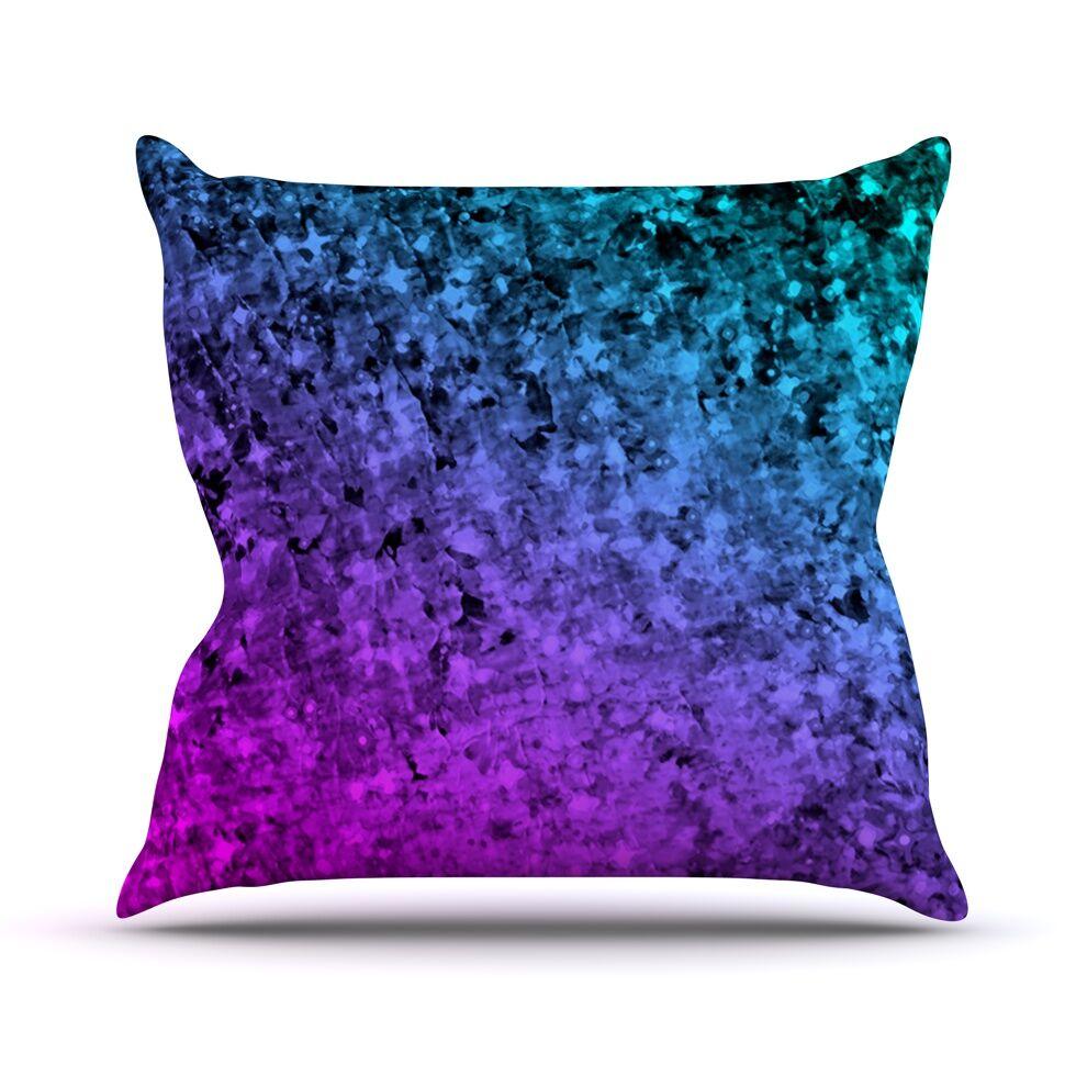 Romance Me by Ebi Emporium Glitter Throw Pillow Color: Mindnight, Size: 26