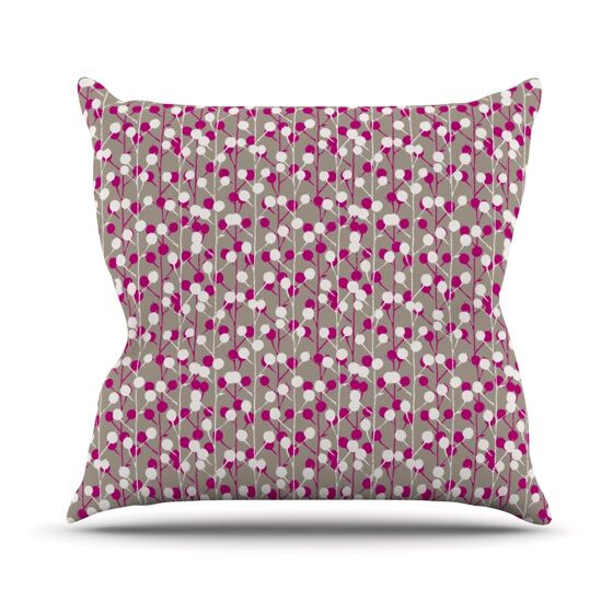 Wineberry by Julie Hamilton Throw Pillow Size: 18
