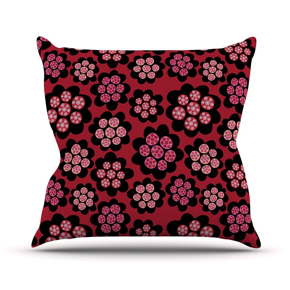 Garden Pods Repeat by Jane Smith Floral Throw Pillow Size: 26