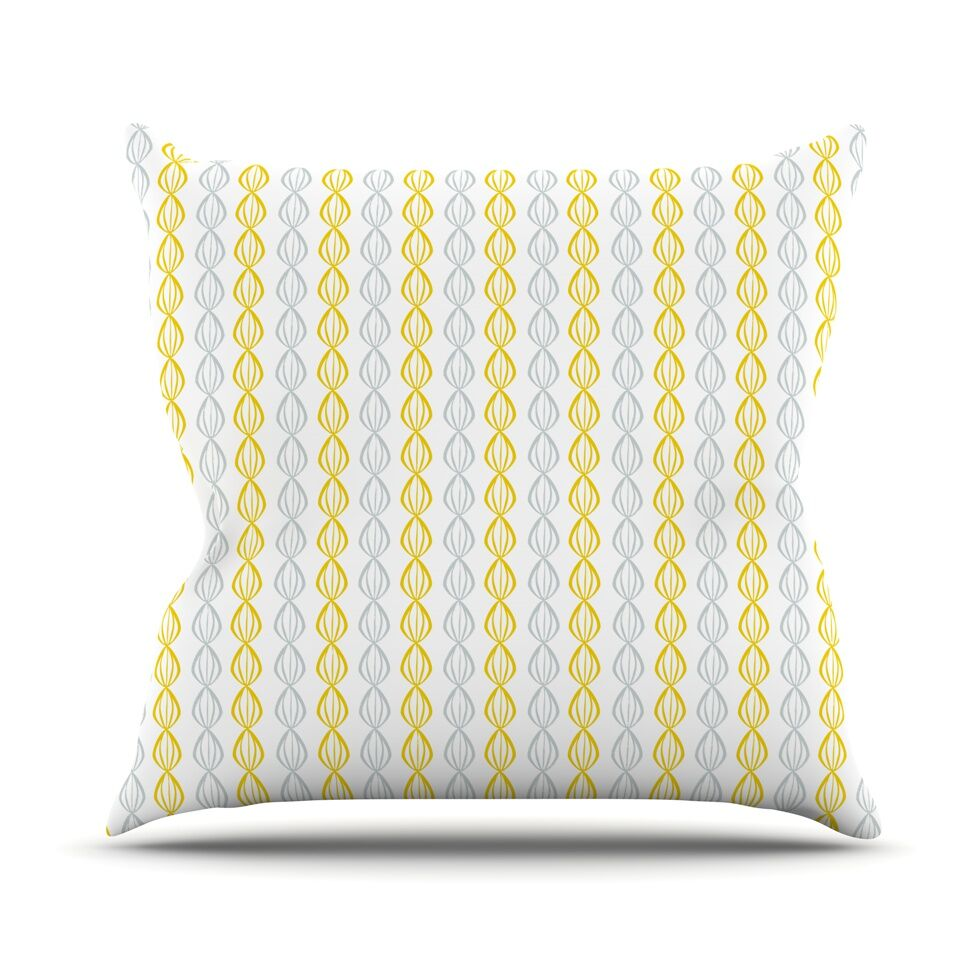 Lemon Pod by Julie Hamilton Throw Pillow Size: 26