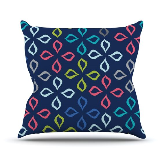 Flowers Throw Pillow Size: 20