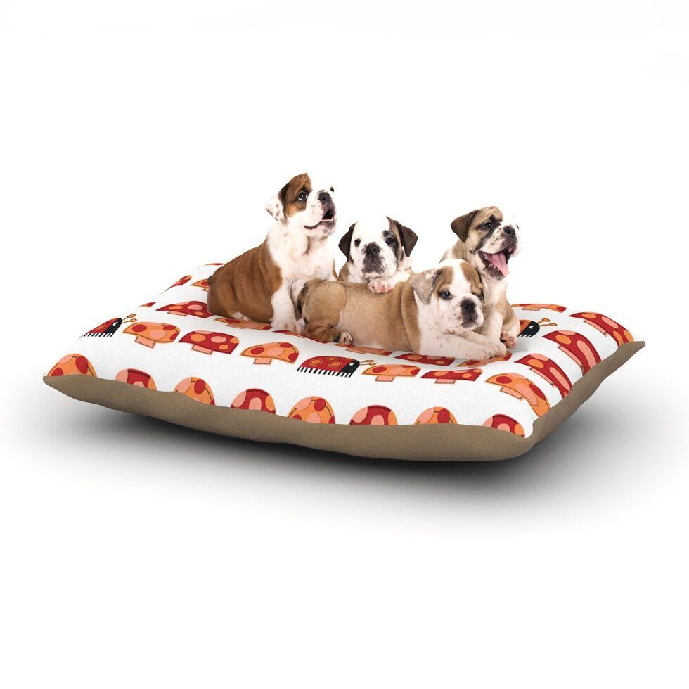Jane Smith 'Garden Ladybugs' Dog Pillow with Fleece Cozy Top Size: Small (40