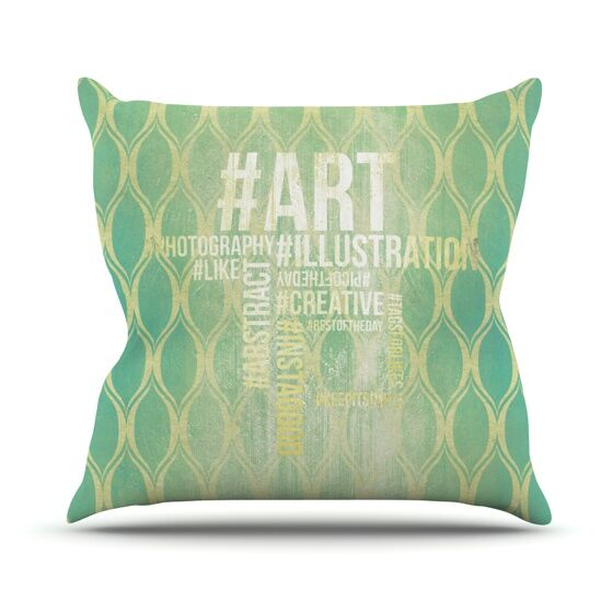 Hashtag Throw Pillow Size: 26