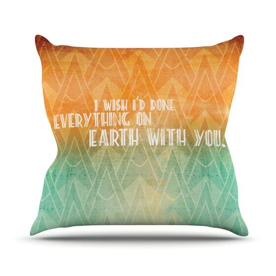 Deco II Throw Pillow Size: 26