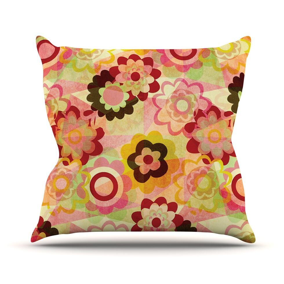 Colorful Mix Throw Pillow Size: 18