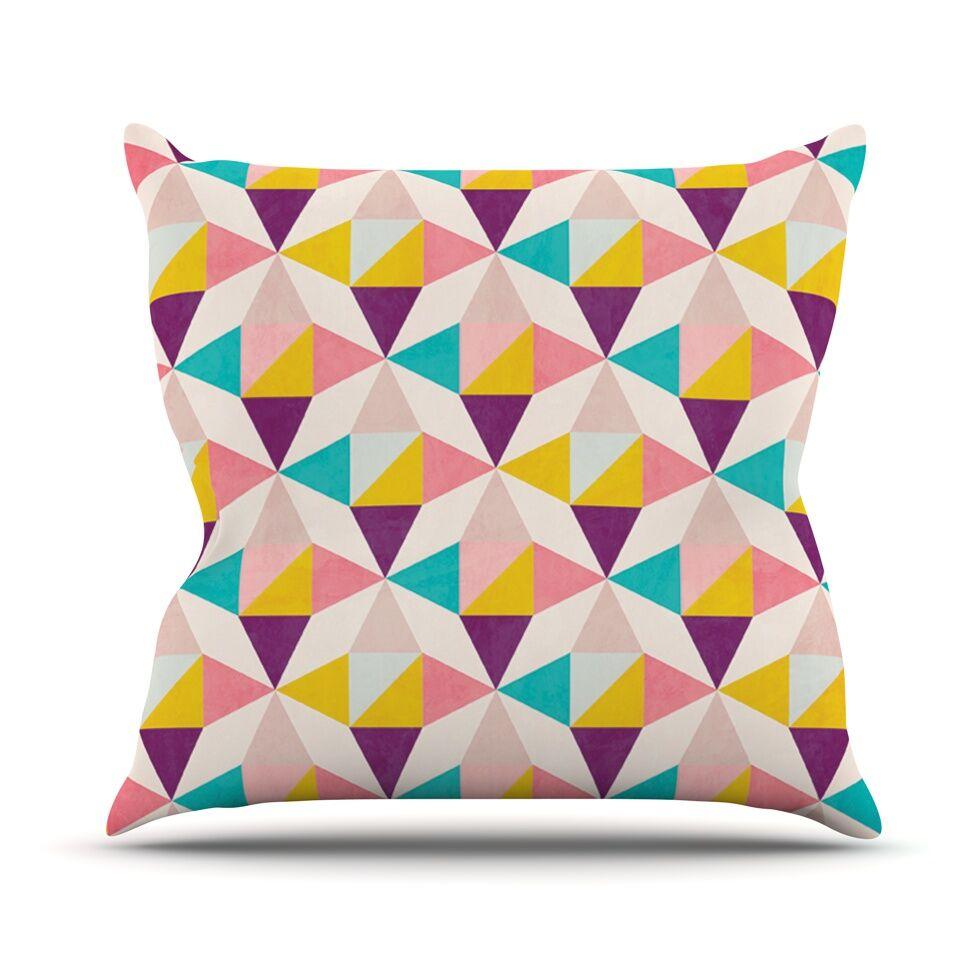Amethyst by Louise Machado Throw Pillow Size: 26