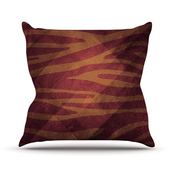 Zebra Texture Throw Pillow Color: Pink, Size: 18
