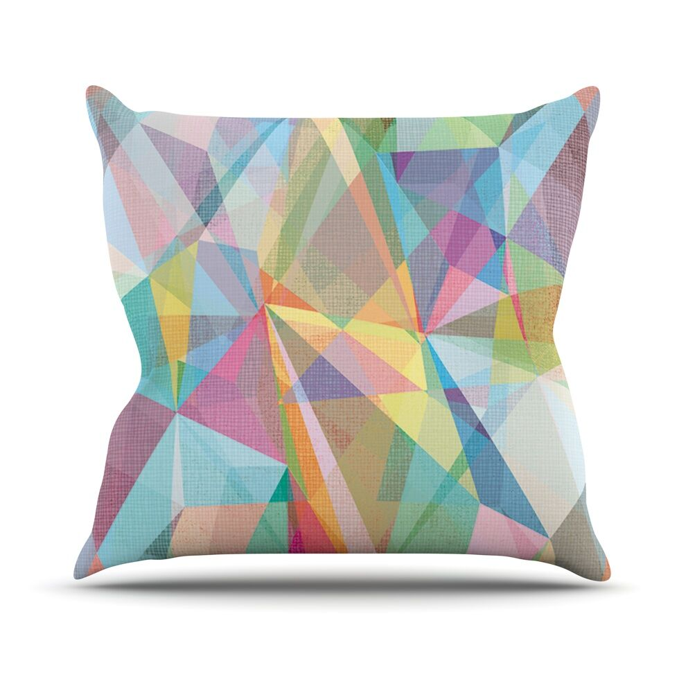 Graphic 32 by Mareike Boehmer Rainbow Abstract Throw Pillow Size: 26
