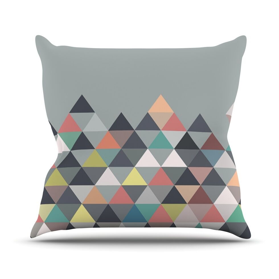 Nordic Combination Abstract Outdoor Throw Pillow Size: 26