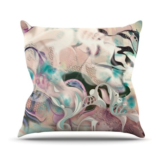 Fluidity Throw Pillow Size: 26