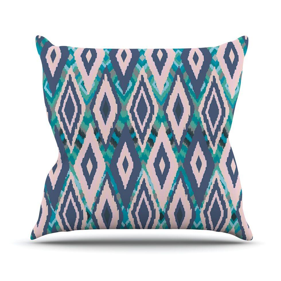 Tribal Ikat Throw Pillow Size: 18