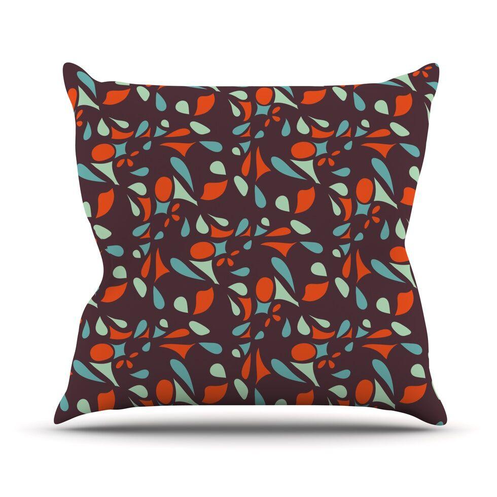 Retro Tile Throw Pillow Size: 26