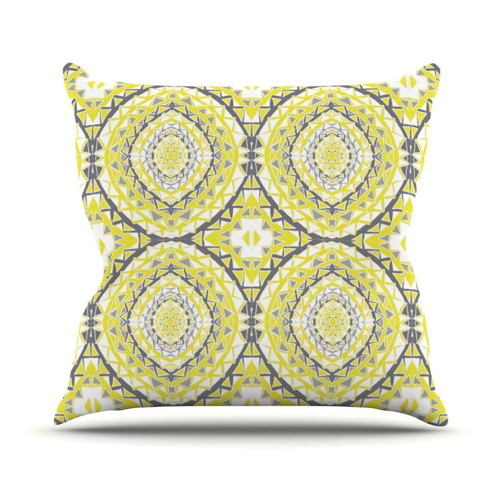 Yellow Tessellation Throw Pillow Size: 26
