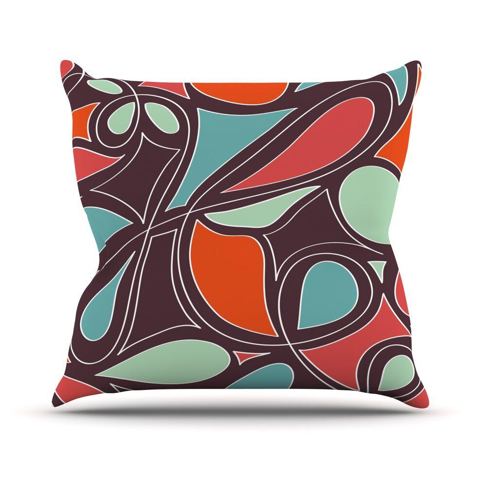 Retro Swirl Throw Pillow Size: 26