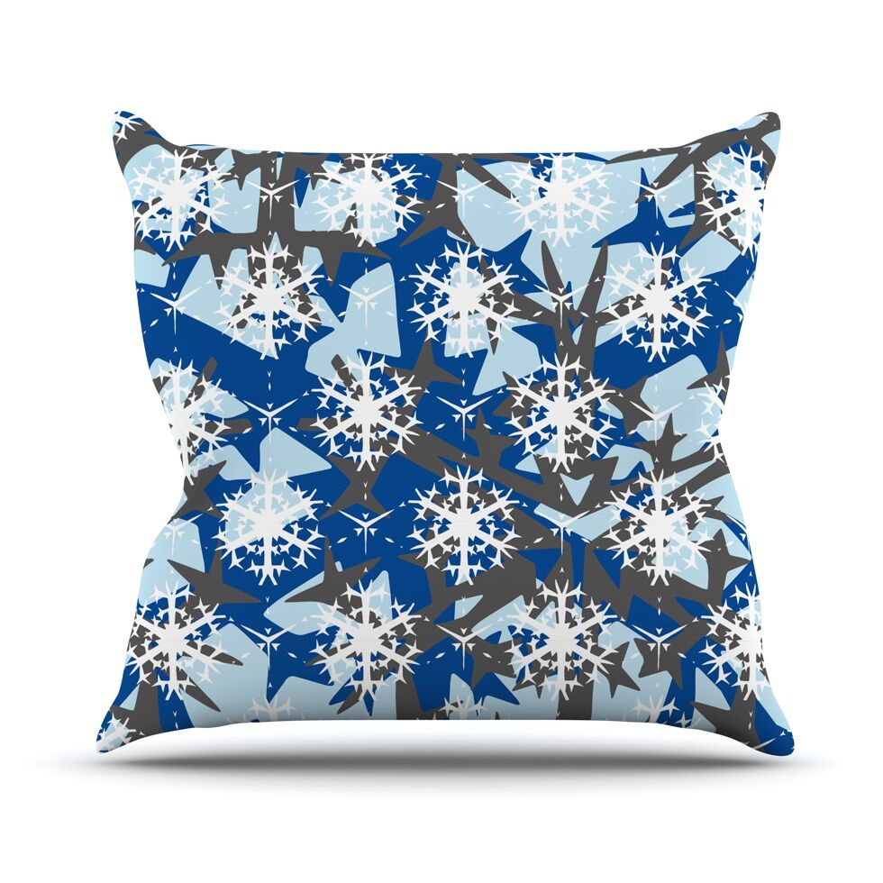 Throw Pillow Color: Ice Topography, Size: 26