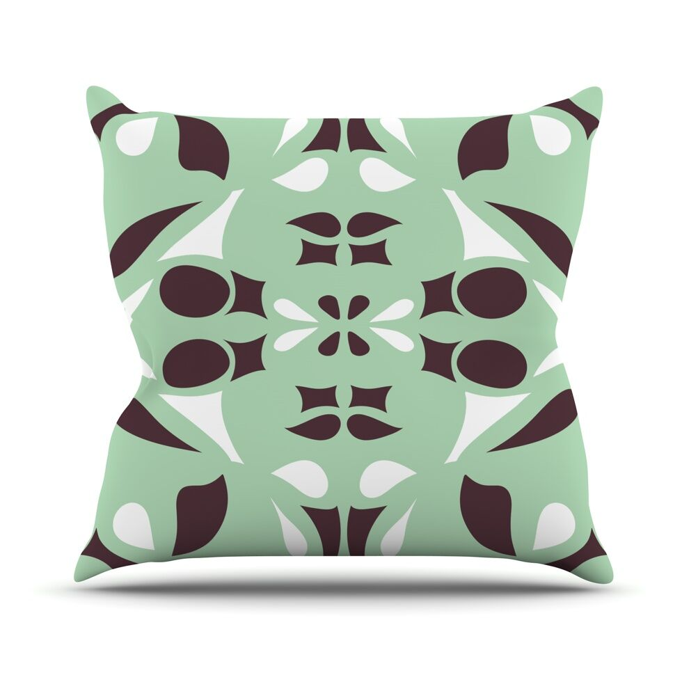 Swirling Teal Throw Pillow Size: 26