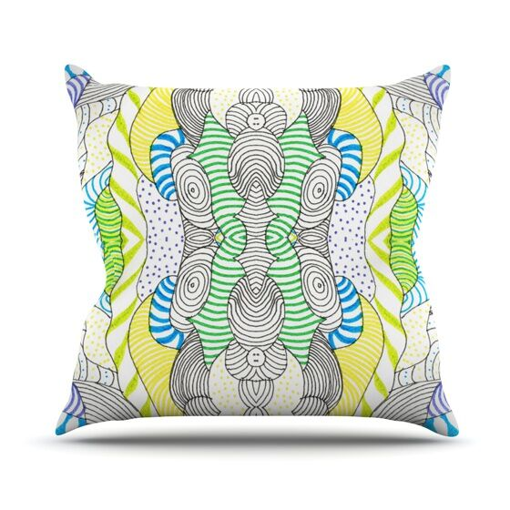 Wormland Throw Pillow Size: 26