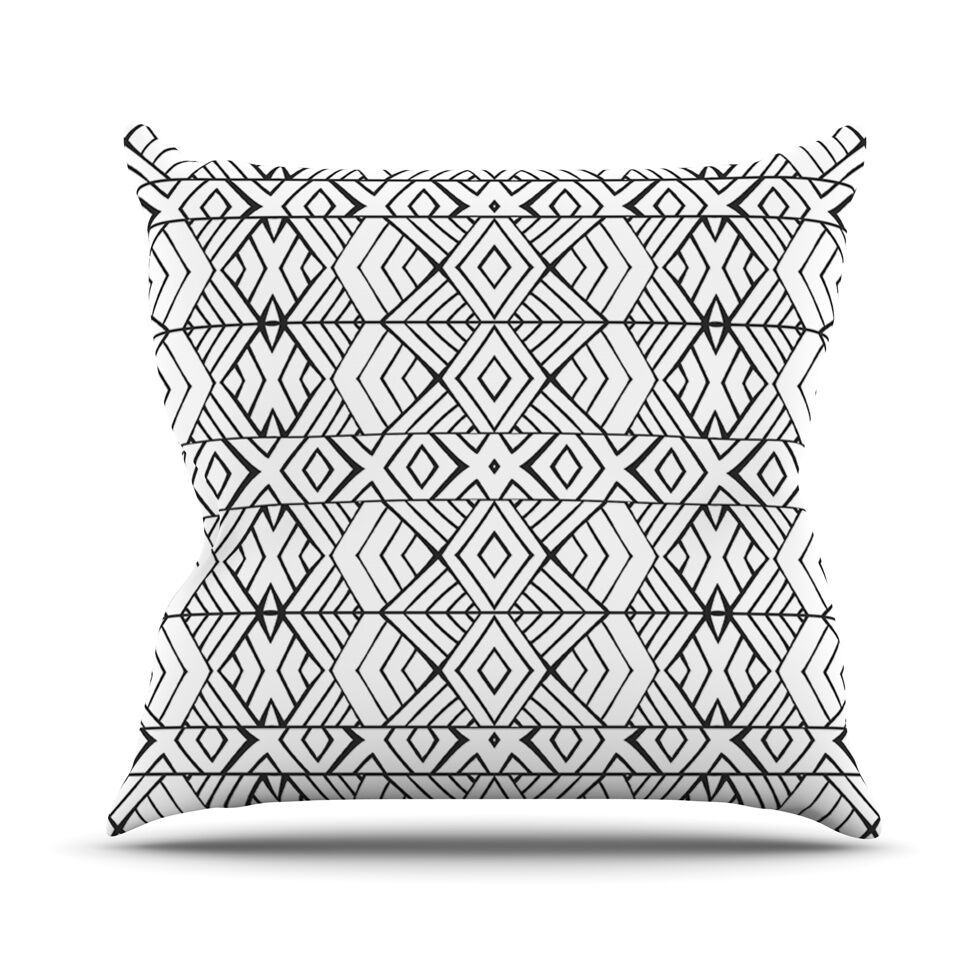 Tribal Expression by Pom Graphic Throw Pillow Size: 20