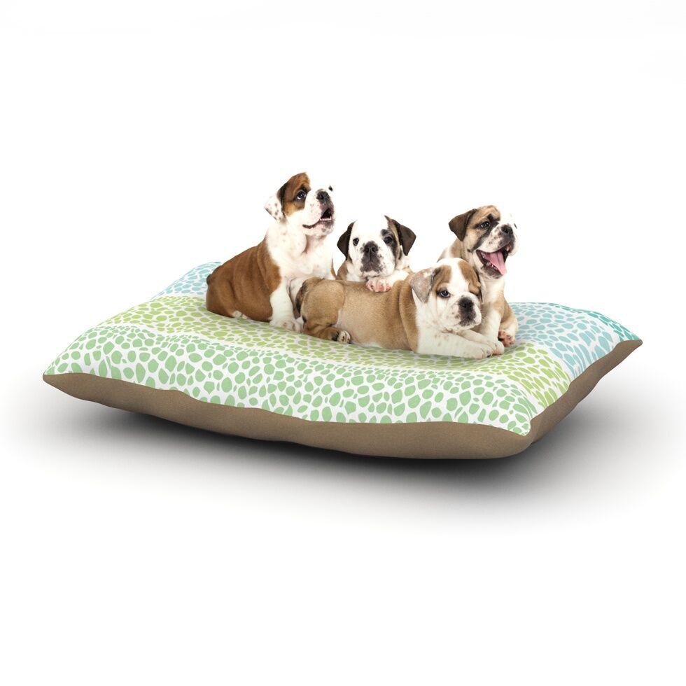 Pom Graphic Design 'Zen Pebbles' Dog Pillow with Fleece Cozy Top Size: Small (40