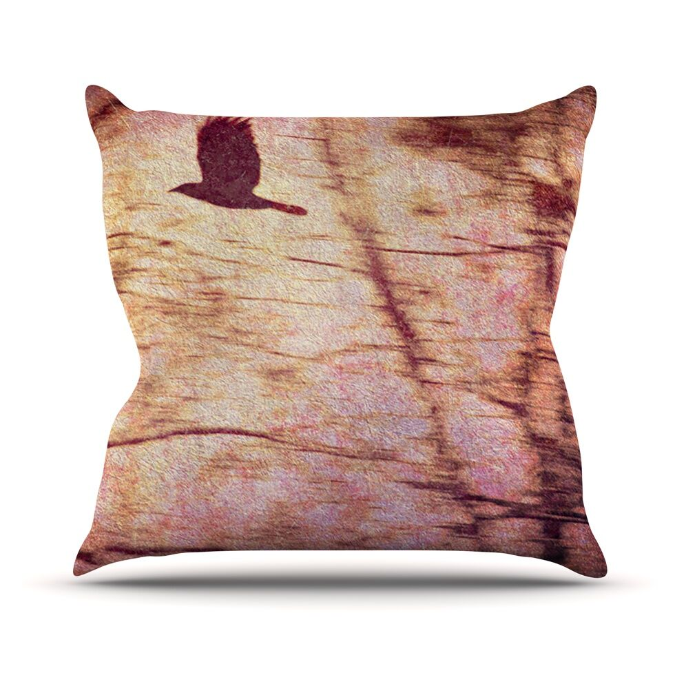 Midnight Dreary Throw Pillow Size: 26