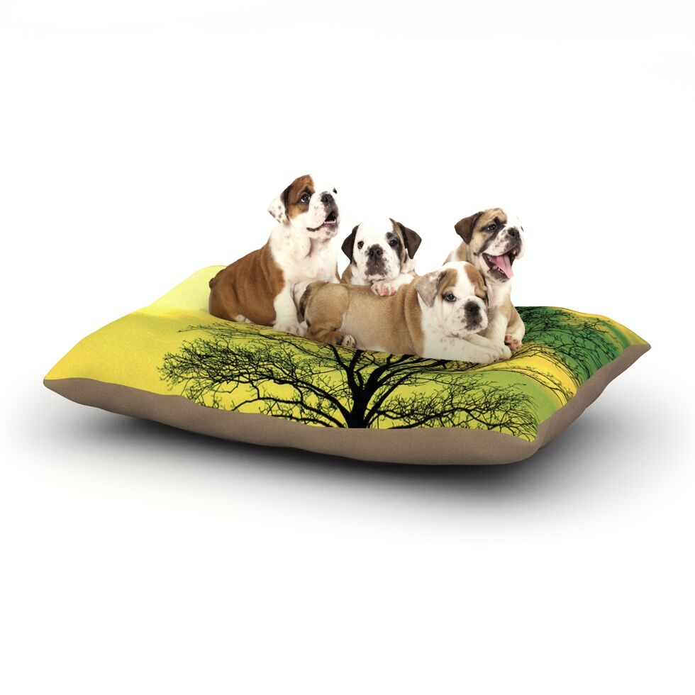 Robin Dickinson 'Tree Sky' Dog Pillow with Fleece Cozy Top Size: Small (40