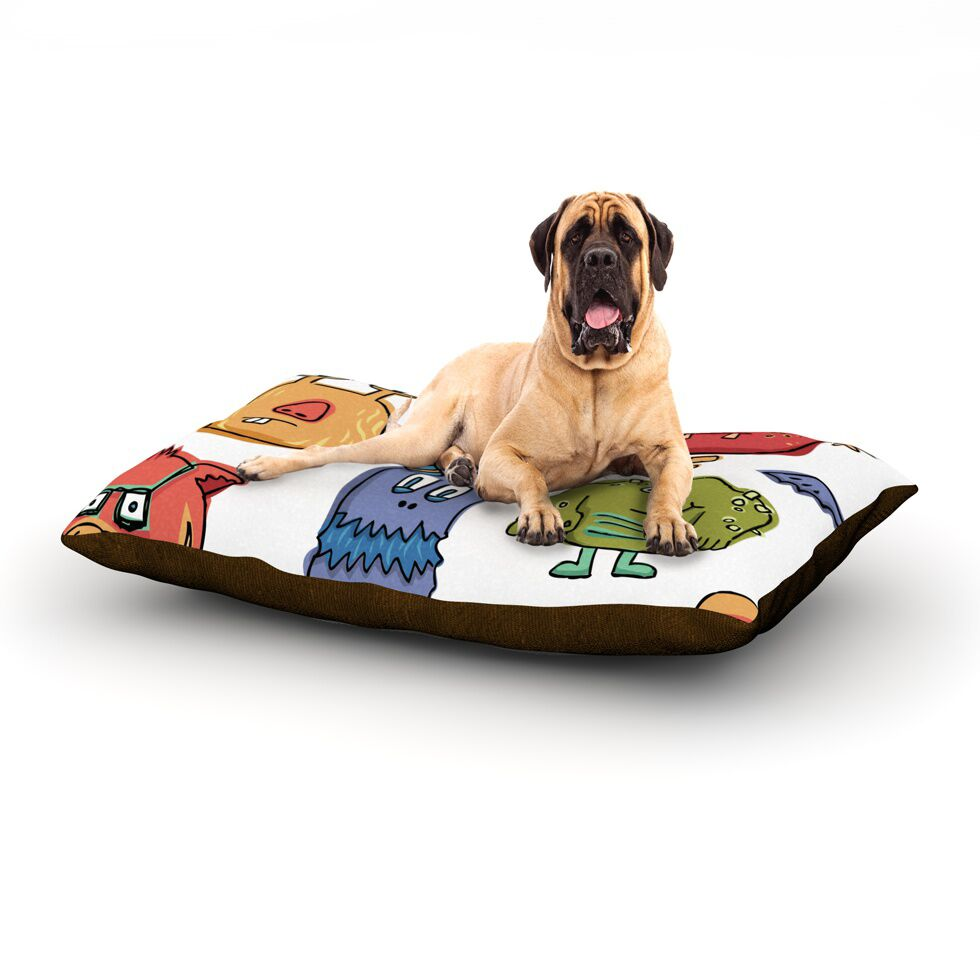 Little Monsters Rectangle Pet Bed Size: 40