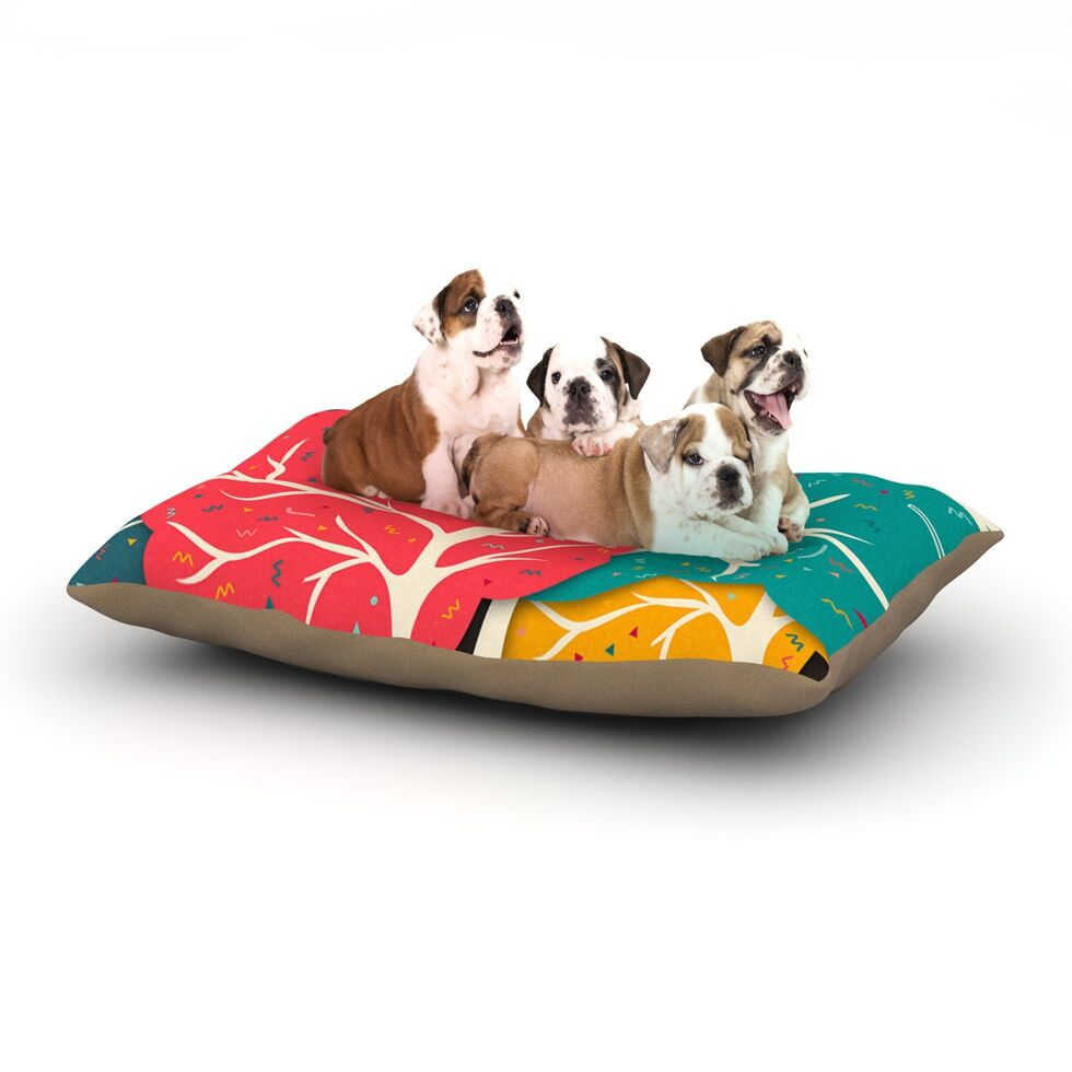 Happy Forest Rectangle Pet Bed Size: 40