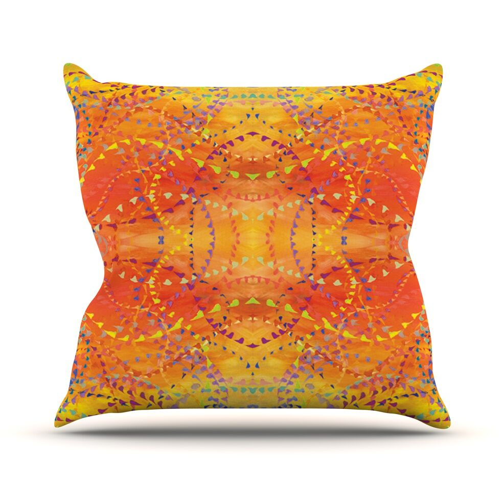 Sunrise by Nikposium Throw Pillow Size: 26