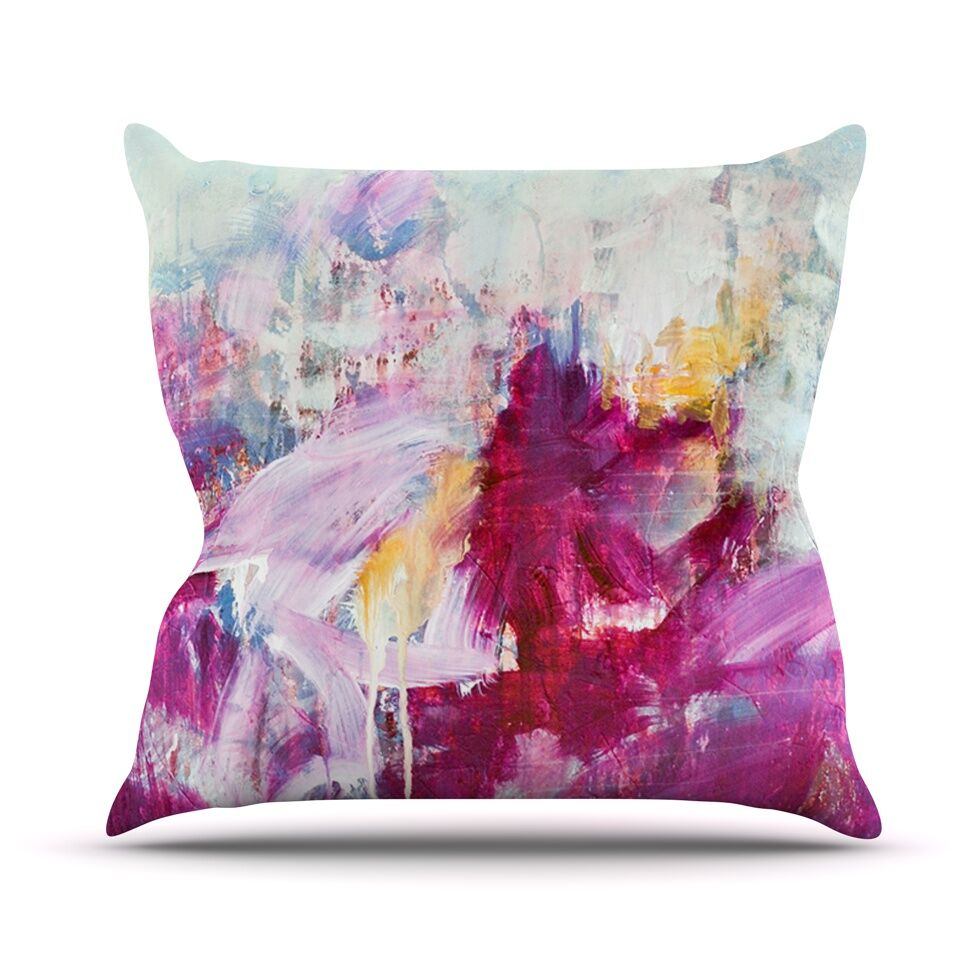 Magenta Paint Indoor/Outdoor Throw Pillow Size: 26