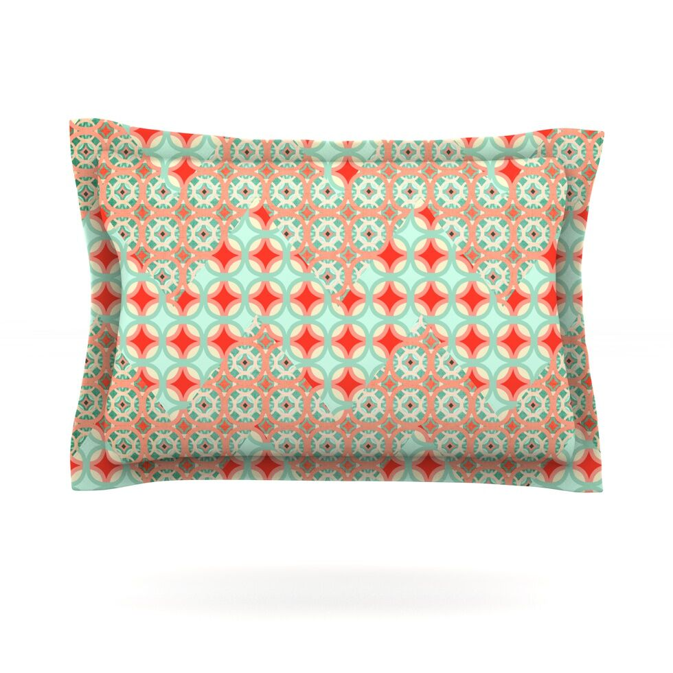 Traveling Caravan by Catherine McDonald Featherweight Pillow Sham Size: King, Fabric: Cotton