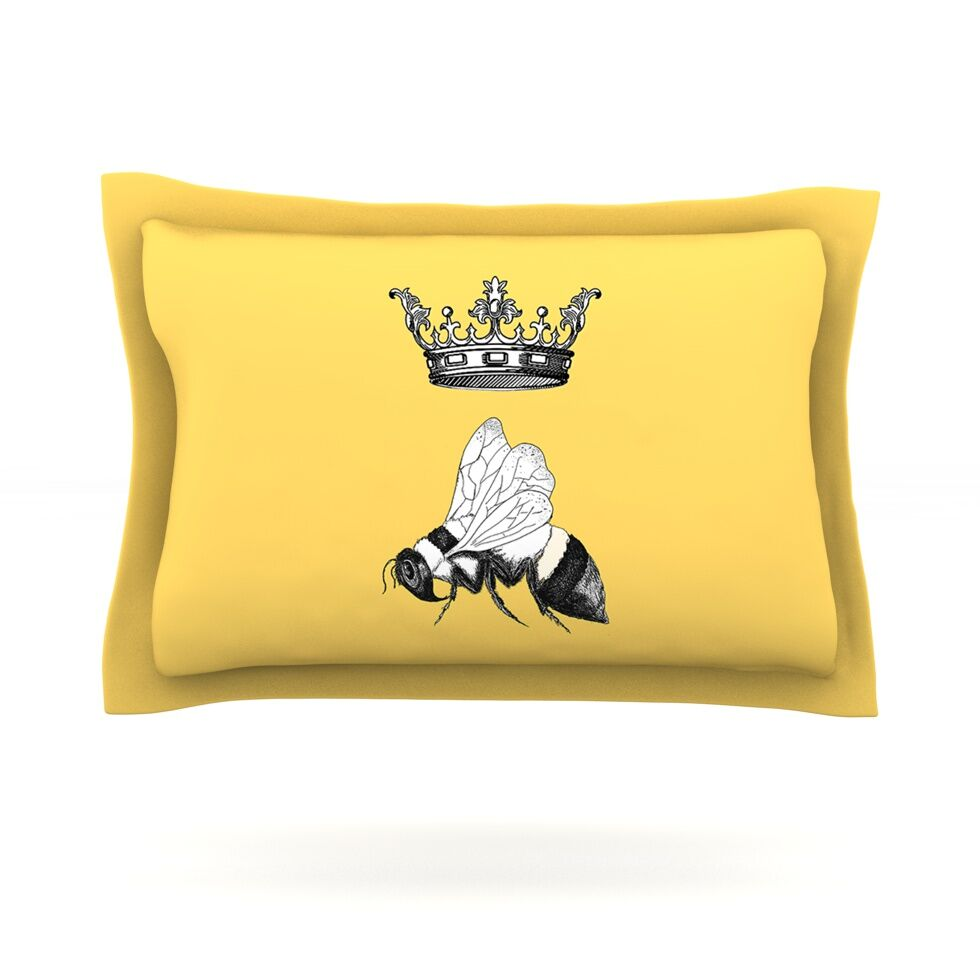 Queen Bee by Catherine Holcombe Featherweight Pillow Sham Size: King, Fabric: Cotton