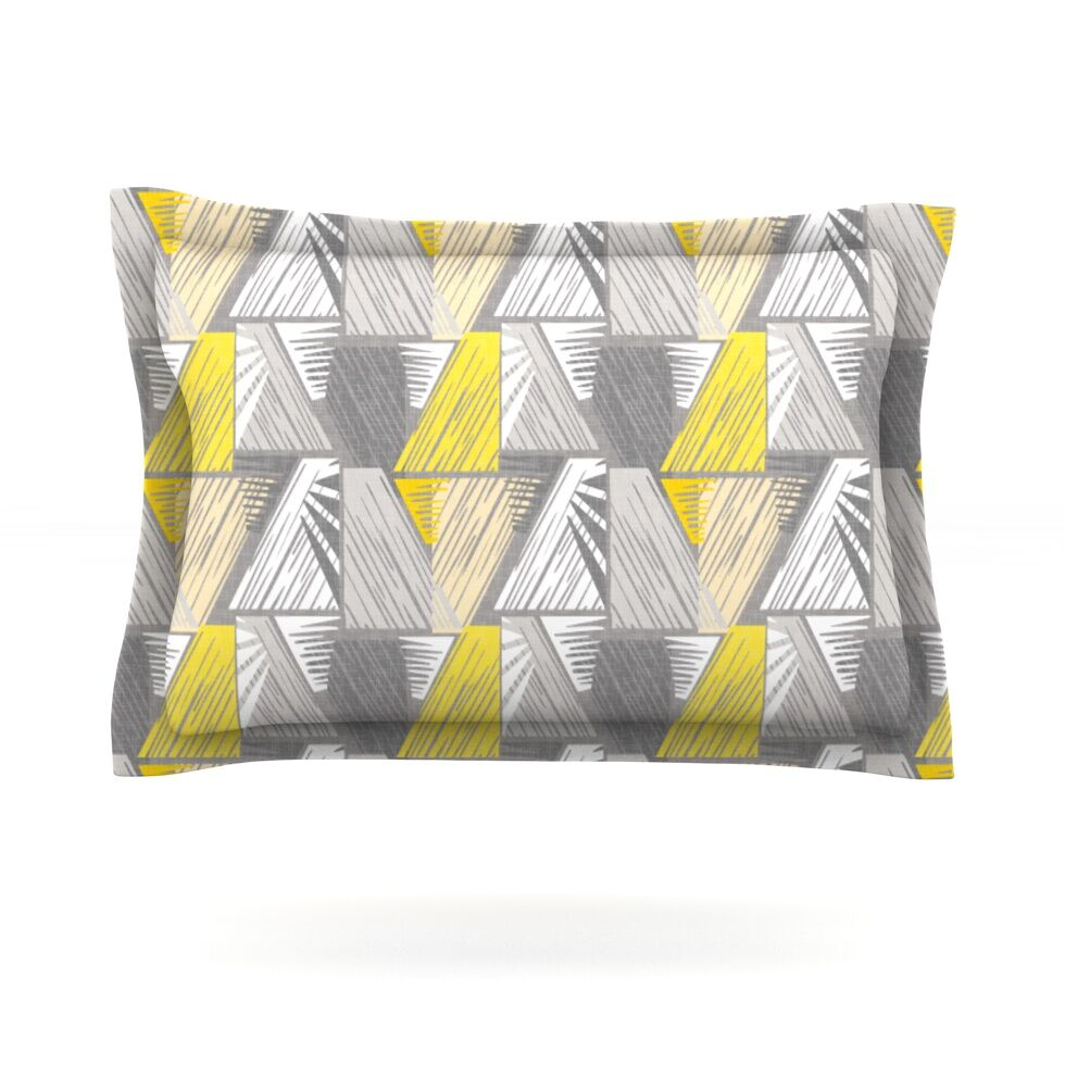 Linford by Gill Eggleston Featherweight Pillow Sham Size: Queen, Fabric: Cotton